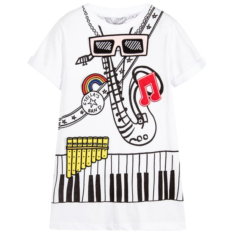Stella McCartney Girls Musical Instrument Dress Girls Dresses Stella McCartney Kids [Petit_New_York]