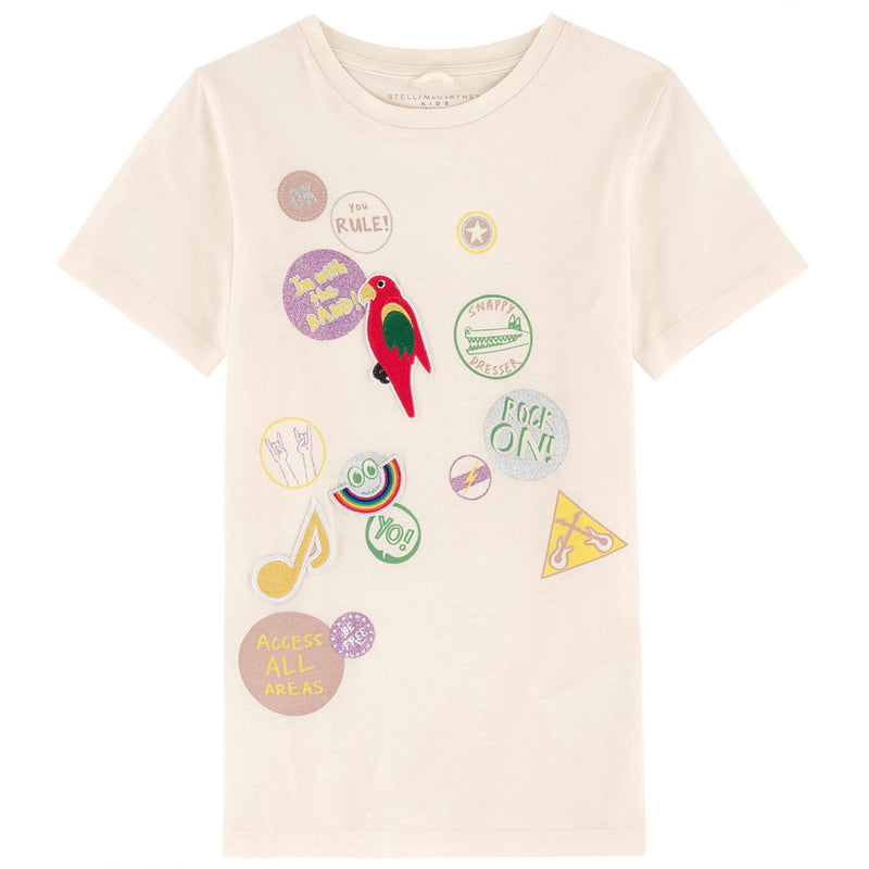 Stella McCartney Girls Patches T-shirt (Mini-Me) Girls Tops Stella McCartney Kids [Petit_New_York]