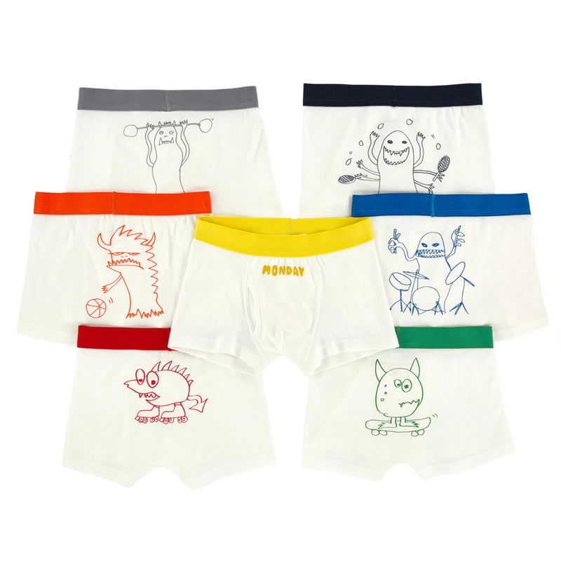 Stella McCartney Boys Monster Boxer Shorts Seven-Pack Gift Set Boys Underwear & Socks Stella McCartney Kids [Petit_New_York]