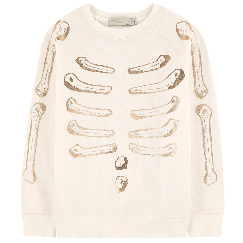 Stella McCartney Girls Cream Skeleton Sweater Girls Sweaters & Sweatshirts Stella McCartney Kids [Petit_New_York]