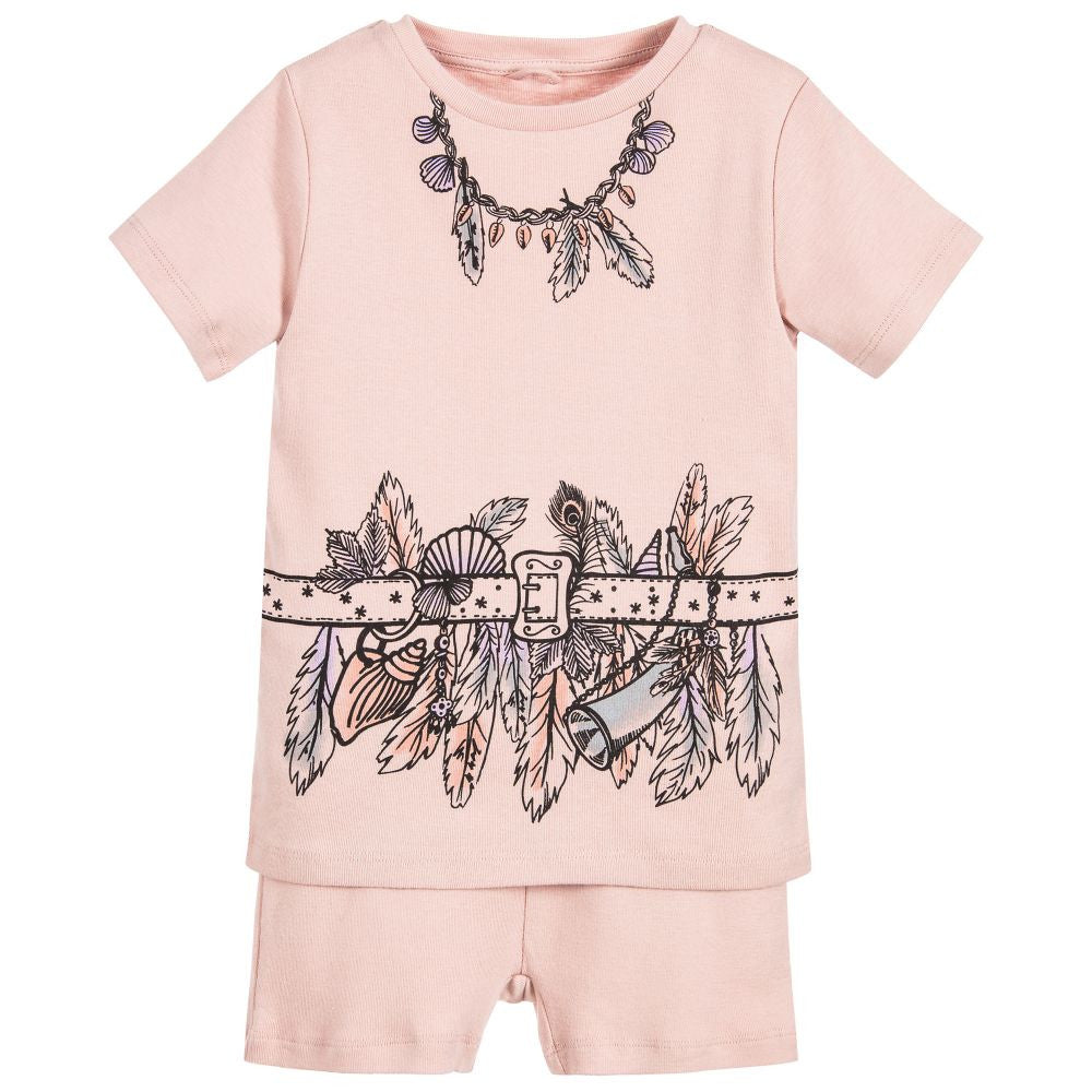 Stella McCartney Girls Pink Beachcomber Pajama Set Girls Underwear, Socks & Tights Stella McCartney Kids [Petit_New_York]