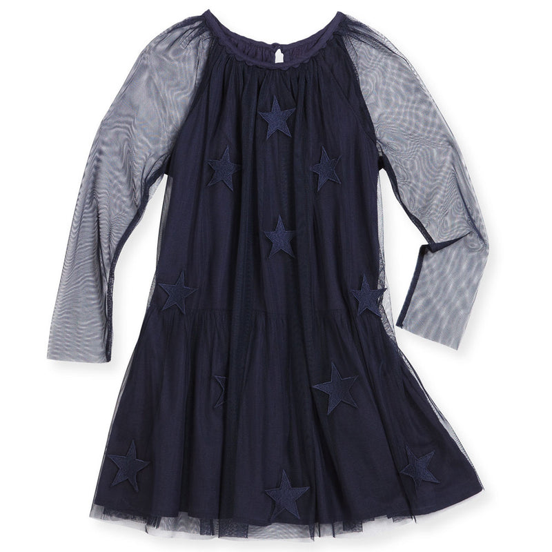 Stella McCartney Girls Star Patched Tulle Dress Girls Dresses Stella McCartney Kids [Petit_New_York]
