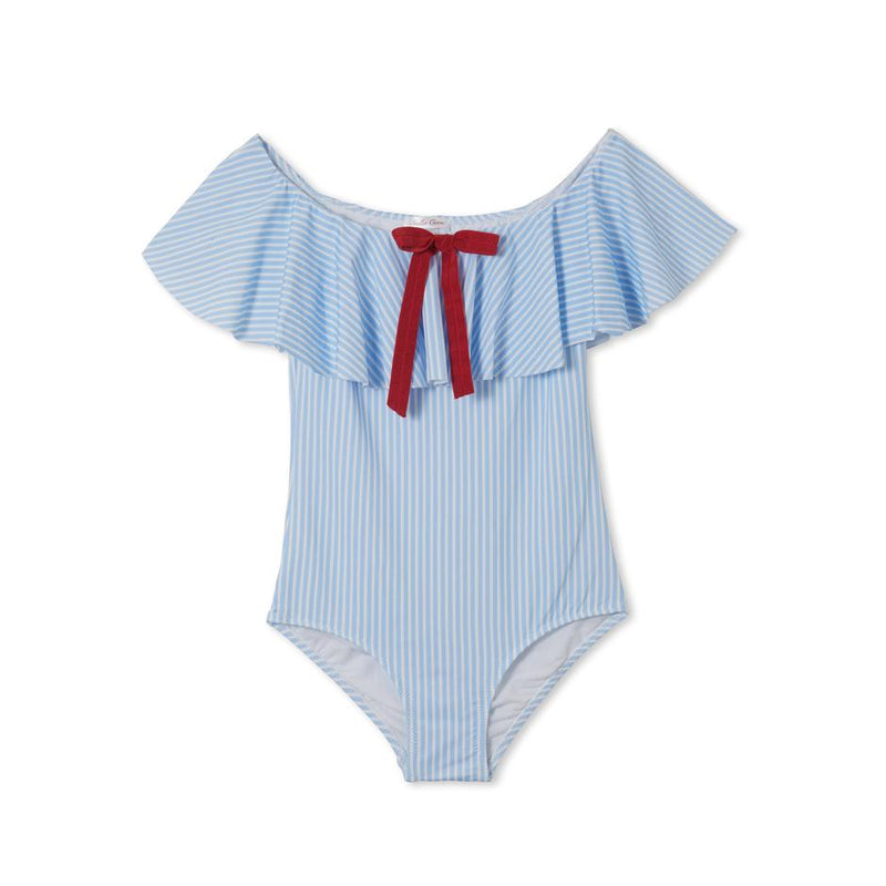 Stella Cove Girls Light Blue Flared Swimsuit