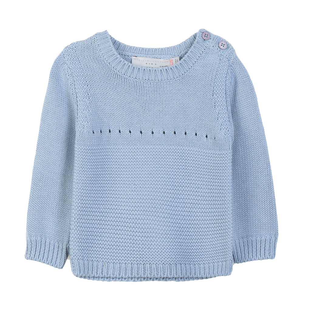 Baby Boys Soft Blue Bunny Sweater