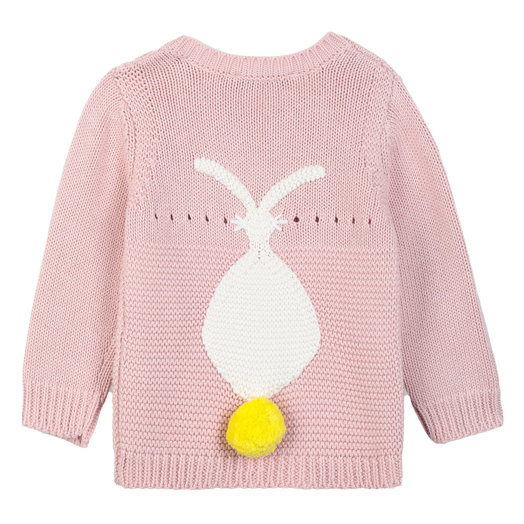 Baby Girls Soft Pink Bunny Sweater