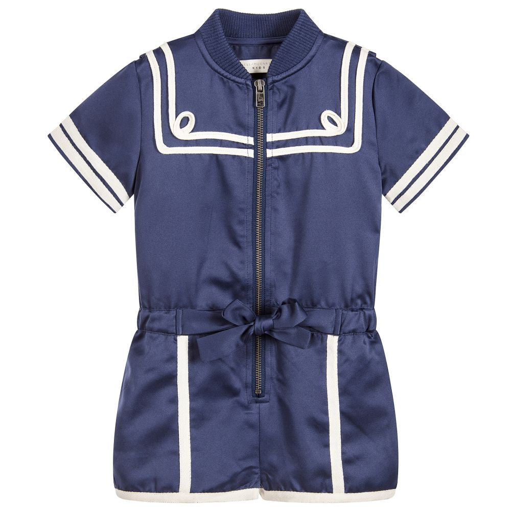 Stella McCartney Girls Navy Blue Majorette Romper Girls Dresses Stella McCartney Kids [Petit_New_York]