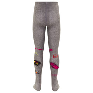 Fendi Girls 'Monster' Grey Tights Girls Underwear, Socks & Tights Fendi [Petit_New_York]