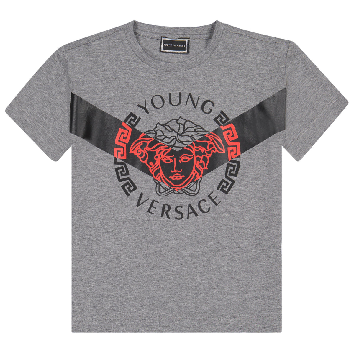 44c3be8ada7b Versace Boys Grey Medusa Logo T-shirt – Petit New York
