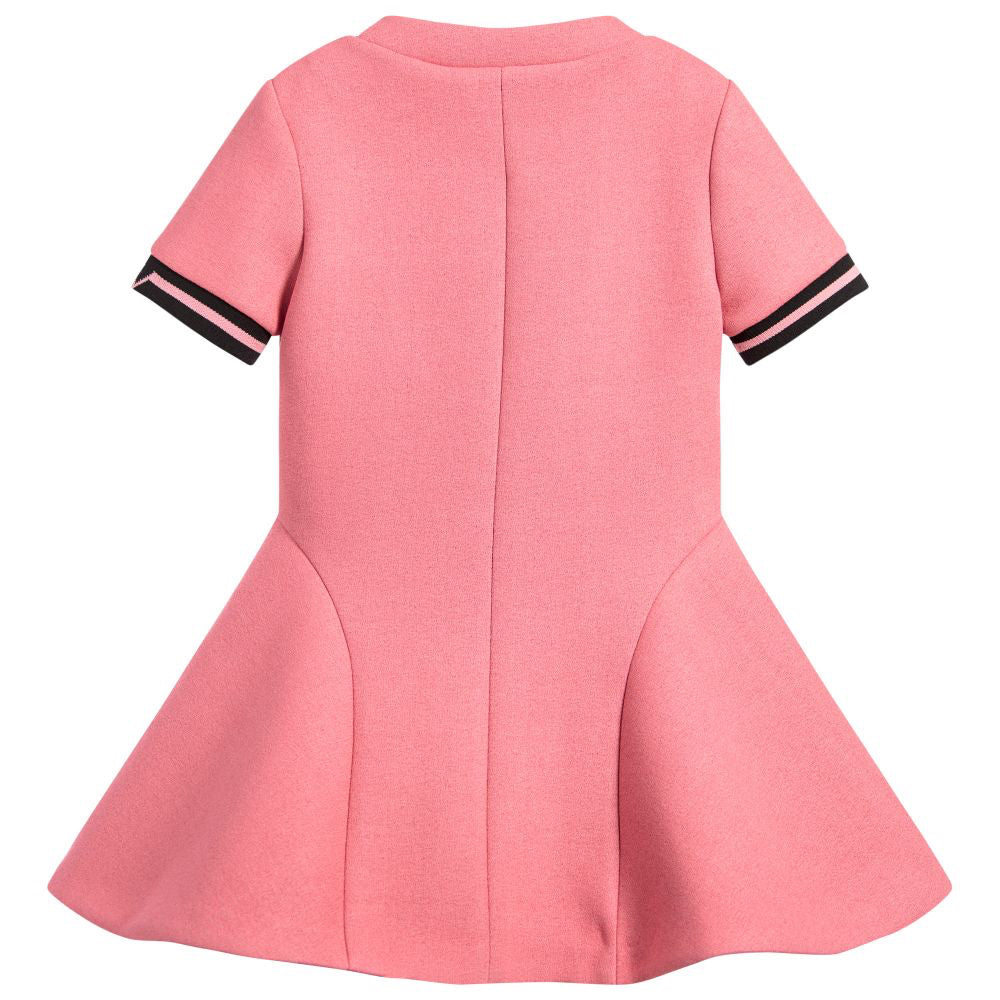 Versace Girls Pink Neoprene Dress Girls Dresses Young Versace [Petit_New_York]