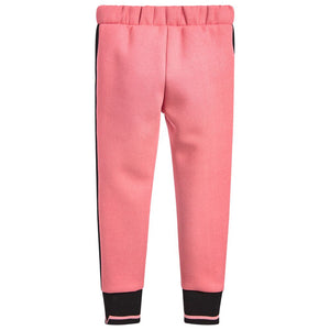 Versace Girls Pink Neoprene Pants (Mini-Me) Girls Pants Young Versace [Petit_New_York]