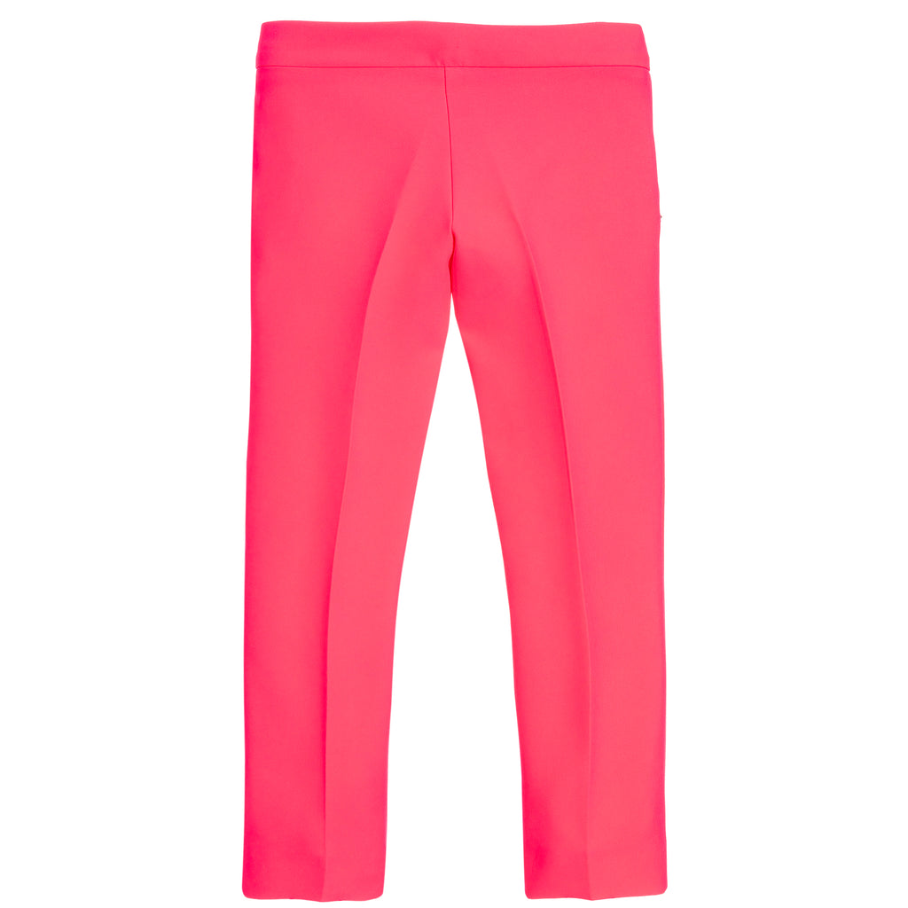 Girls Silky Neon Pink Pants