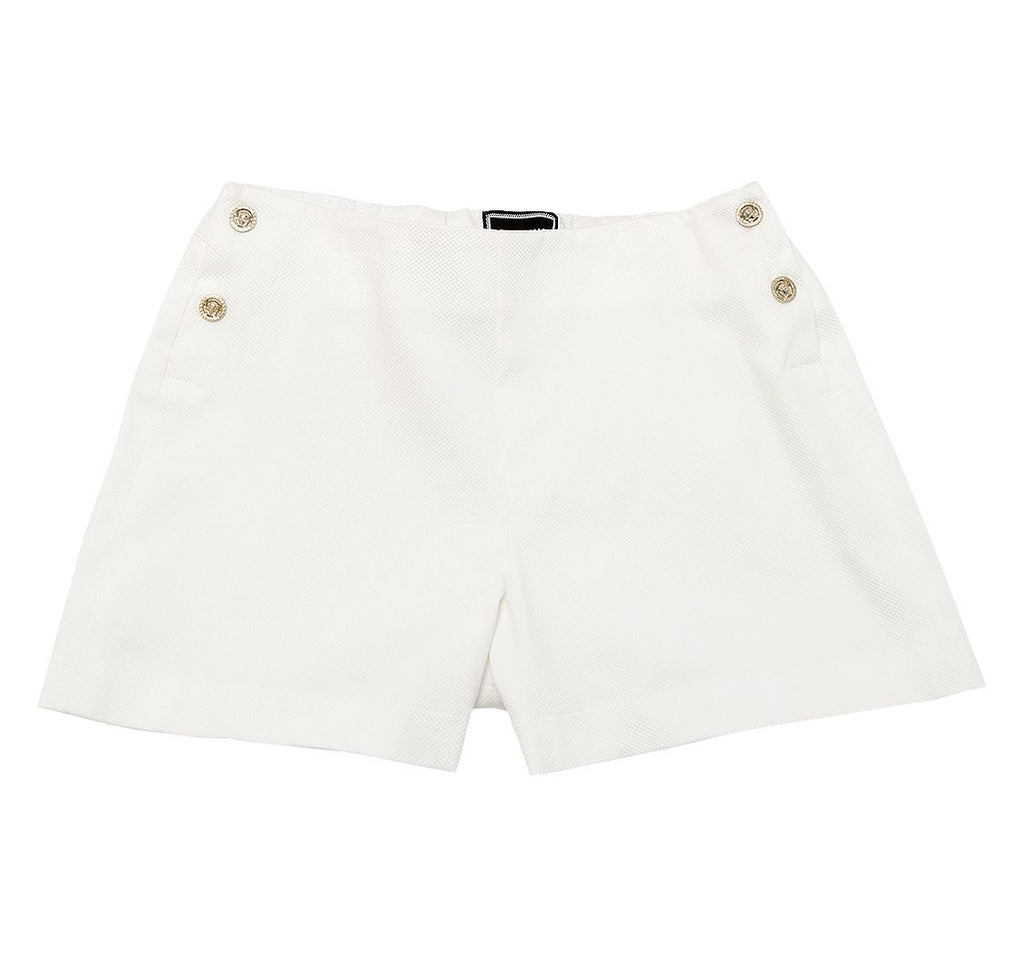 Versace Girls White Cotton Shorts