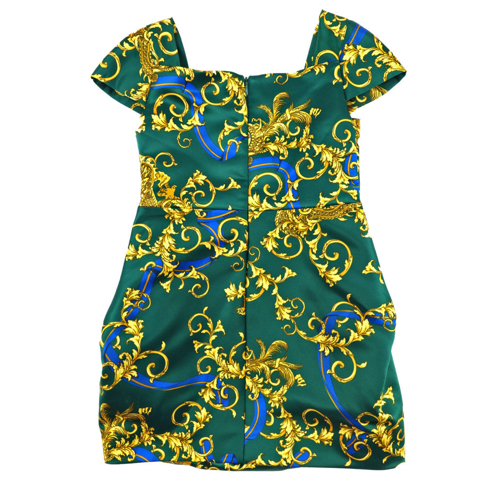 Versace Girls Green Fancy Dress Girls Dresses Young Versace [Petit_New_York]
