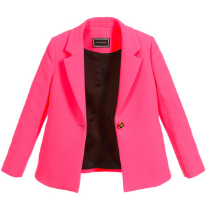 Girls Neon Pink Blazer Jacket
