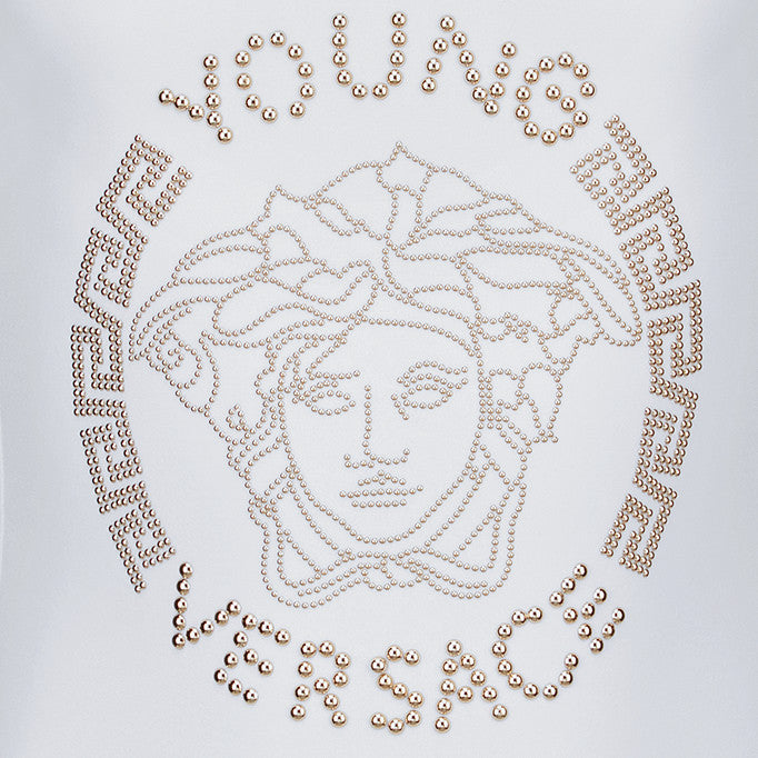 Versace Girls Ivory Medusa Embellished Swimsuit Girls Swimwear Young Versace [Petit_New_York]