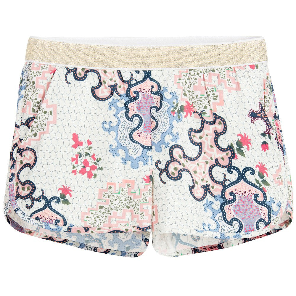 Zadig & Voltaire Girls Ivory Shorts with Colorful Print Girls Shorts Zadig & Voltaire [Petit_New_York]