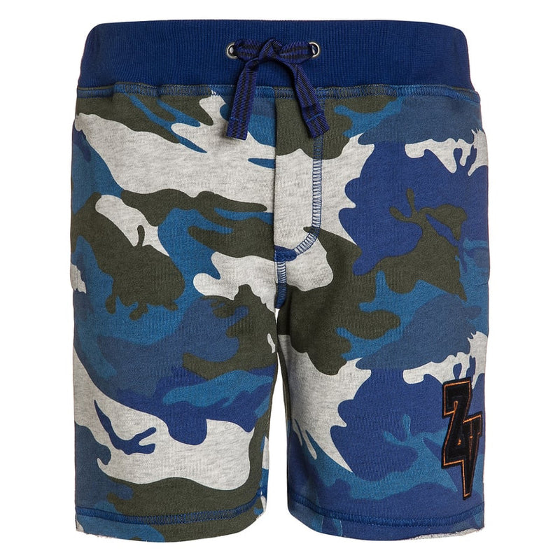 Zadig & Voltaire Boys Blue Camo Sweat Shorts Boys Shorts Zadig & Voltaire [Petit_New_York]