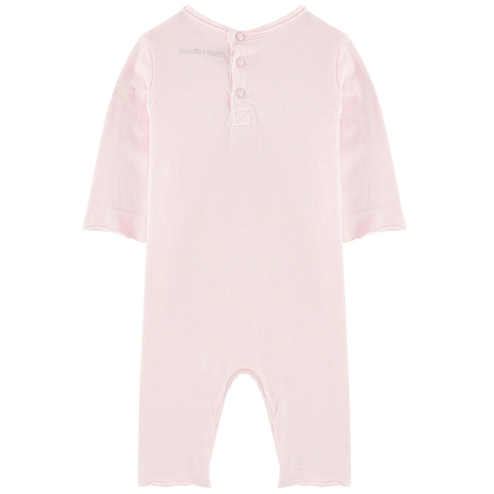 Zadig & Voltaire Baby Girls 'Made With Love' Romper Baby Rompers & Onesies Zadig & Voltaire [Petit_New_York]