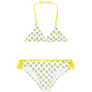 Zadig & Voltaire Girls White and Yellow Star Bikini Girls Swimwear Zadig & Voltaire [Petit_New_York]