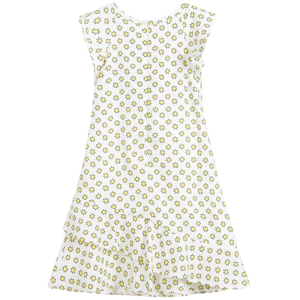 Zadig & Voltaire Girls White Dress with Yellow Stars Girls Dresses Zadig & Voltaire [Petit_New_York]
