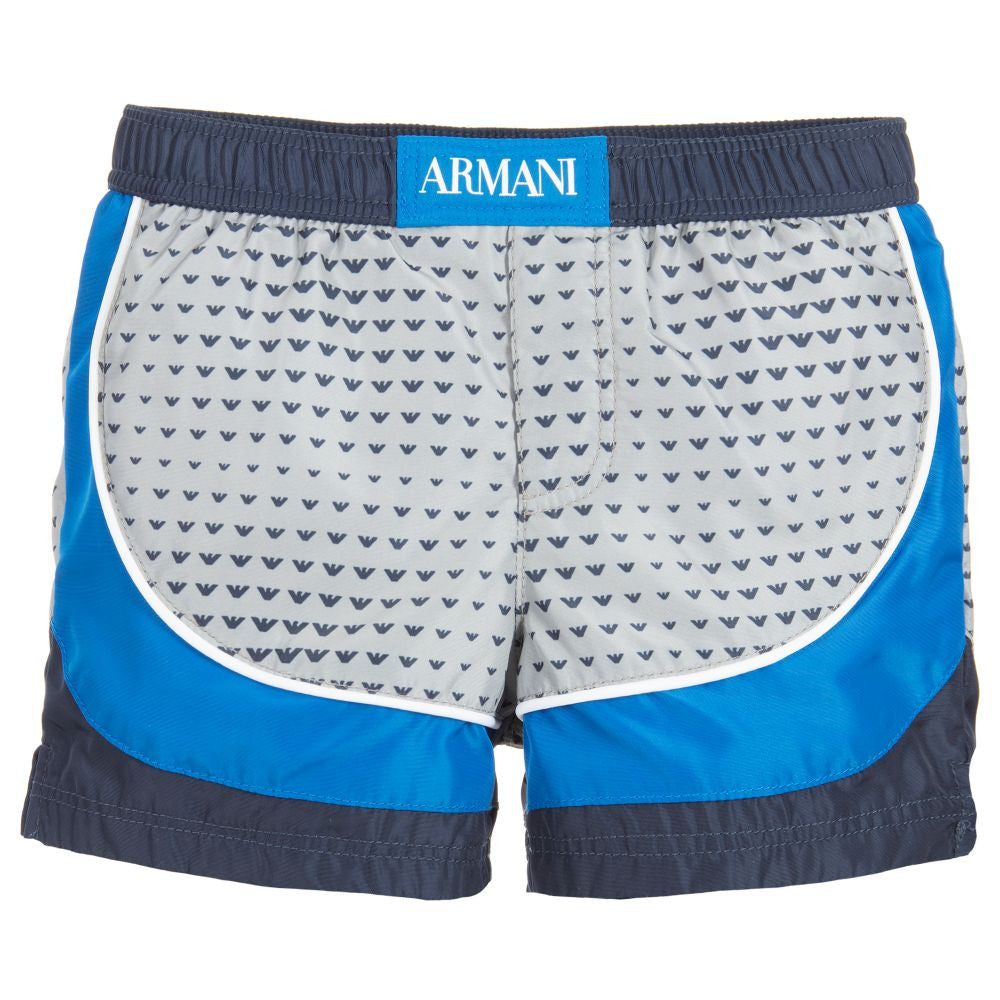 Armani Baby Boys Logo Swim Shorts | New Season Baby Swimwear Armani Junior [Petit_New_York]