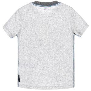 Armani Boys Grey Logo T-Shirt Boys T-shirts Armani Junior [Petit_New_York]