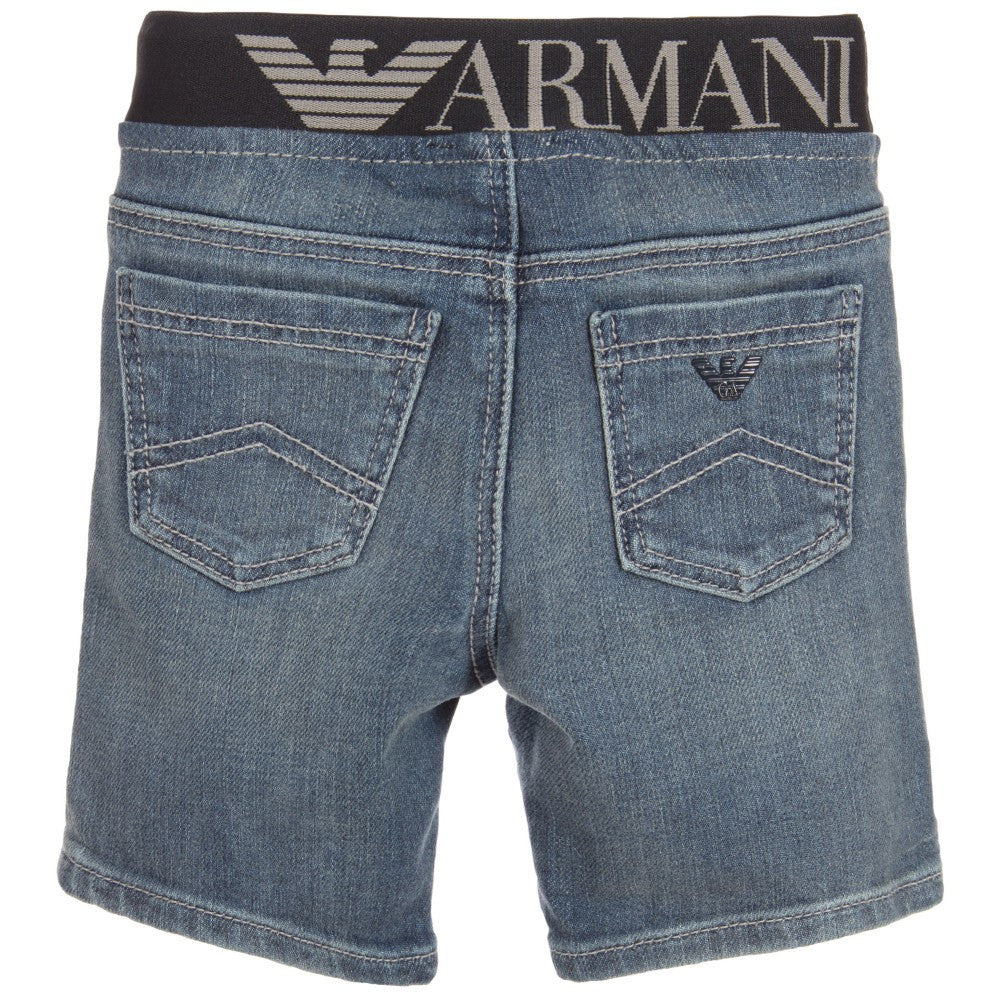 Armani Baby Boys Distressed Denim Waistband Jeans Baby Bottoms Armani Junior [Petit_New_York]