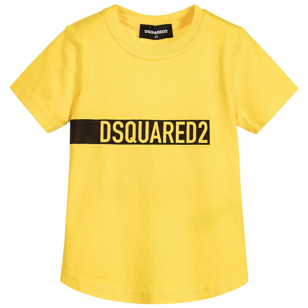 Dsquared2 Boys Yellow Logo T-shirt Boys T-shirts Dsquared2 [Petit_New_York]
