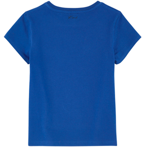 Karl Lagerfeld Girls Choupette Blue Tee Girls Tops Karl Lagerfeld Kids [Petit_New_York]