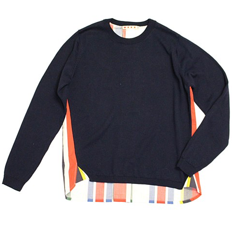 Marni Girls Navy Colorful Pullover Girls Sweaters & Sweatshirts Marni [Petit_New_York]