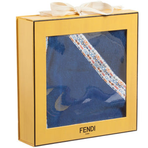 Fendi Baby Ocean Blue 'Monster' Towel Gift Set Accessories Fendi [Petit_New_York]