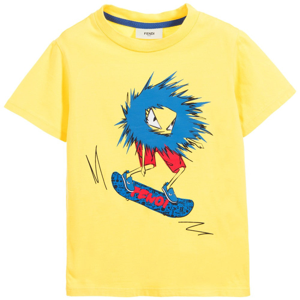 Fendi Boys 'Monster' Skateboard Tee Boys T-shirts Fendi [Petit_New_York]
