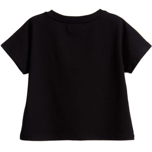 Moschino Girls Cropped 'Bon Bon' T-shirt Girls Tops Moschino [Petit_New_York]