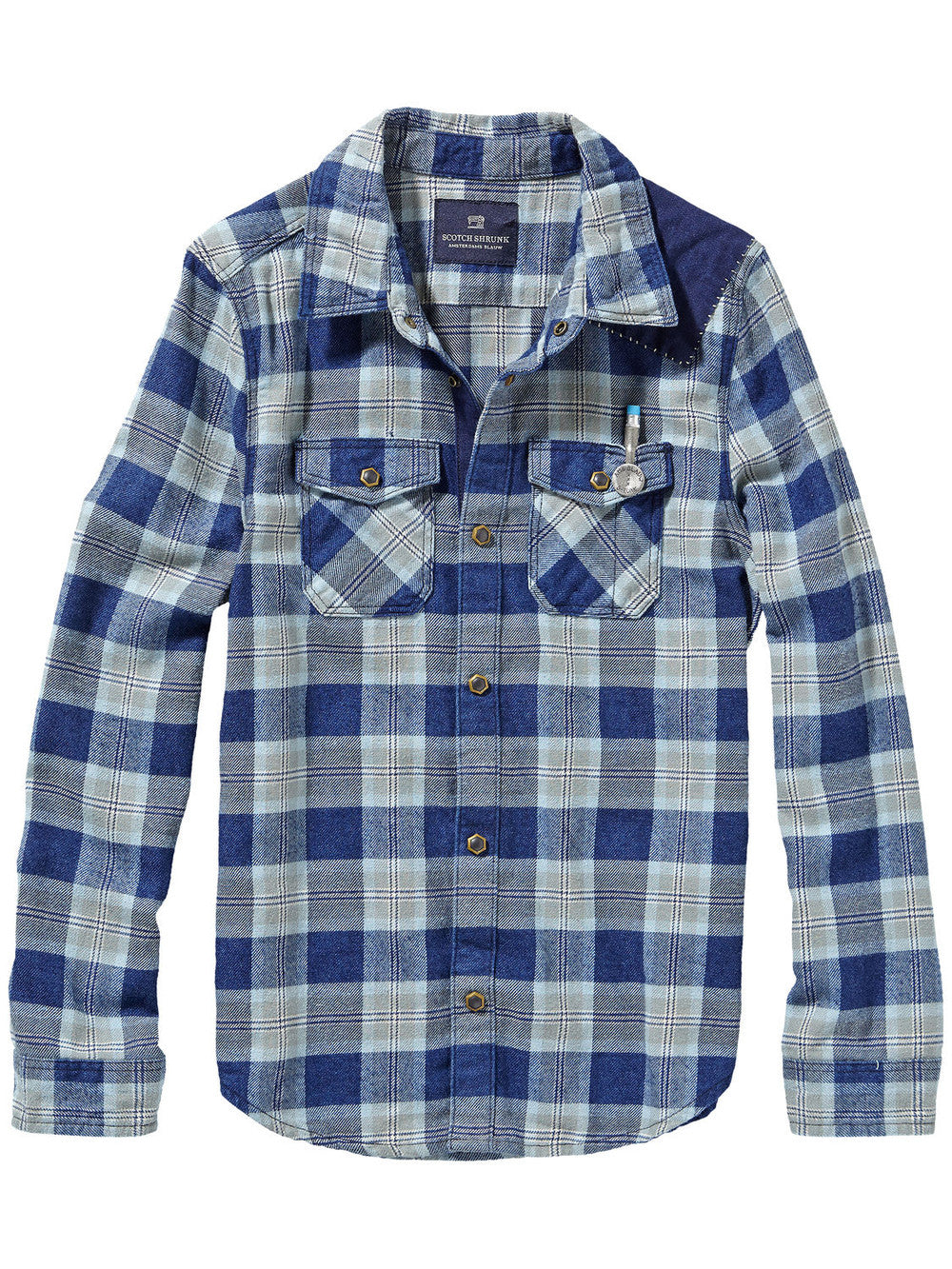 Scotch & Soda Boys Checked Shirt Boys Shirts Scotch Shrunk [Petit_New_York]
