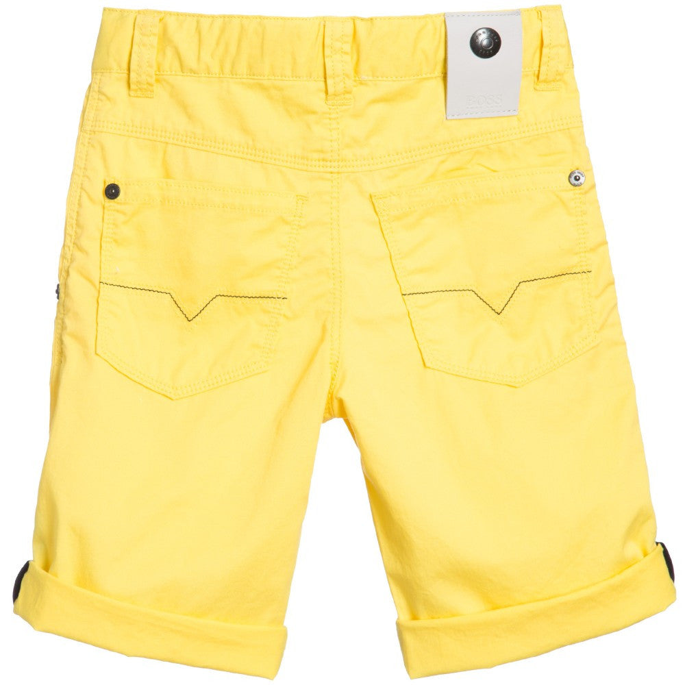 Hugo Boss Boys Yellow Bermuda Shorts Boys Shorts Boss Hugo Boss [Petit_New_York]