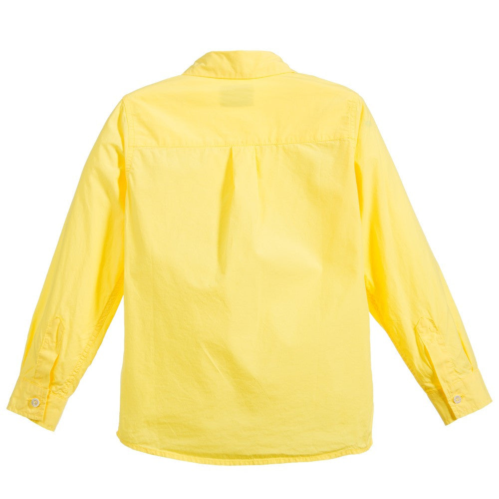 Fendi Boys Yellow Dress-Shirt Boys Shirts Fendi [Petit_New_York]