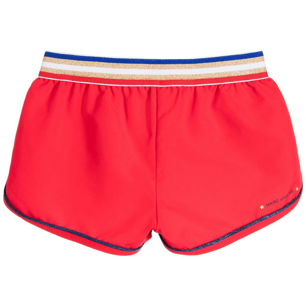 Little Marc Jacobs Girls Candy Red Shorts Girls Shorts Little Marc Jacobs [Petit_New_York]