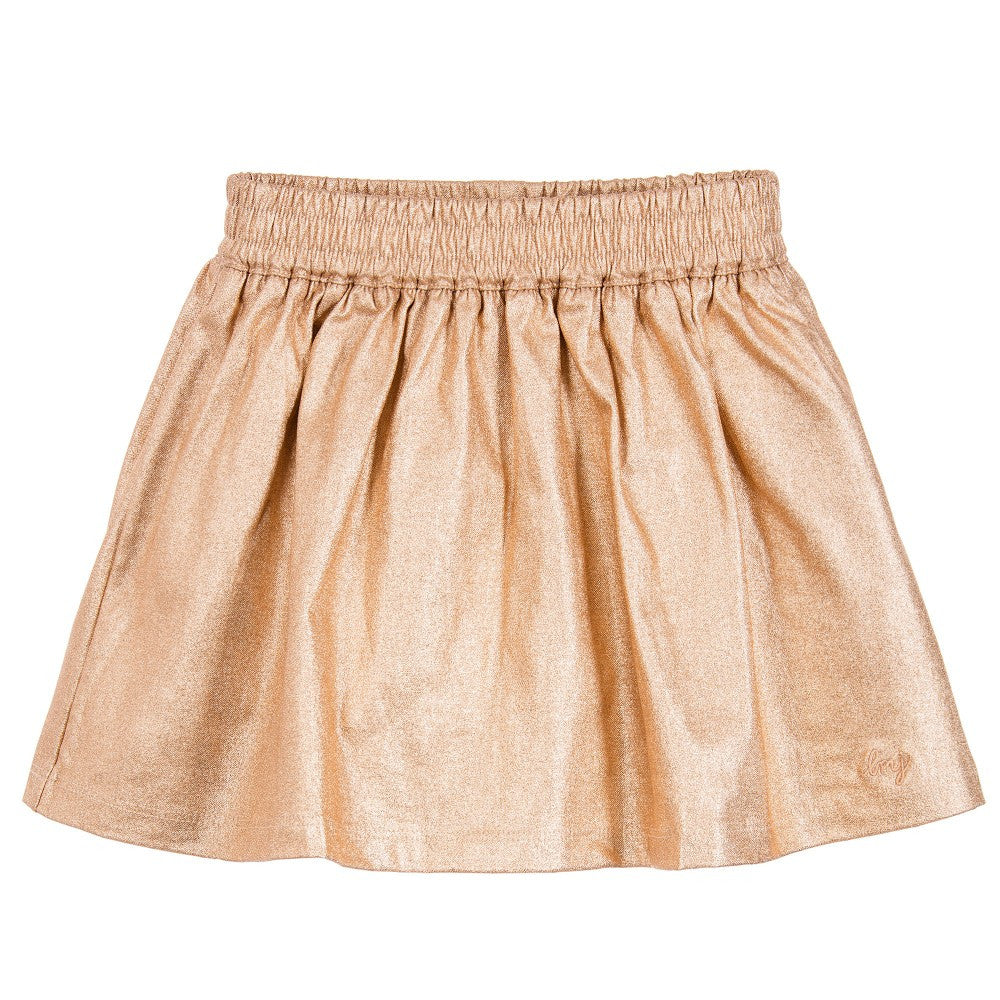 Little Marc Jacobs Girls Fancy Gold Skirt Girls Skirts Little Marc Jacobs [Petit_New_York]