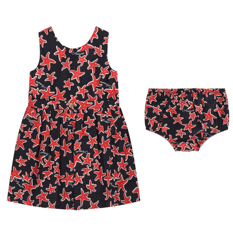 Armani Baby Girls Starfish Dress & Bloomers Set Baby Dresses Armani Junior [Petit_New_York]