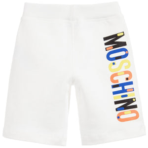 Moschino Boys White Sweatshorts Boys Shorts Moschino [Petit_New_York]