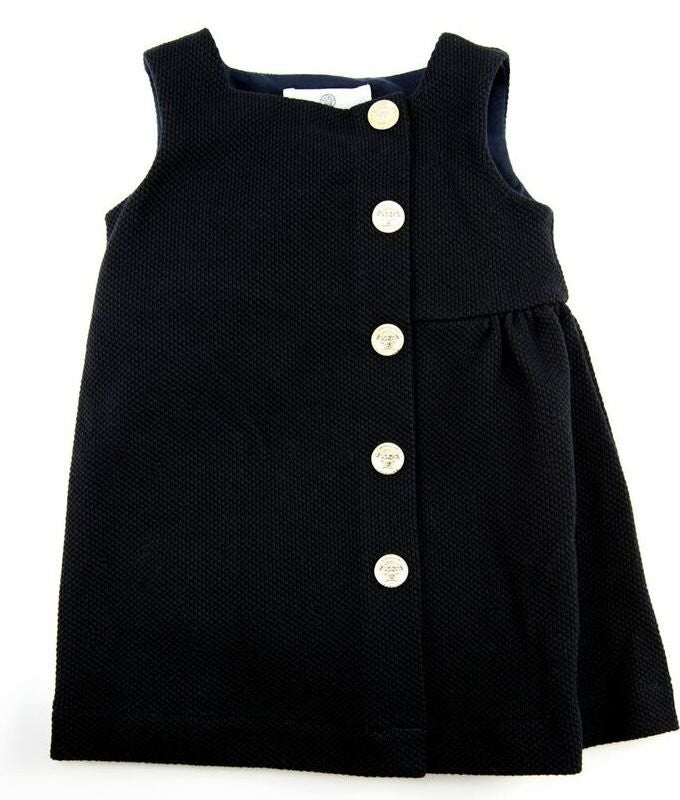 Versace Baby Girls Navy Dress Baby Dresses Young Versace [Petit_New_York]