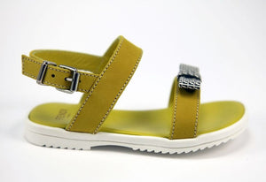 Fendi Baby Girls Yellow Sandals Baby Shoes Fendi [Petit_New_York]