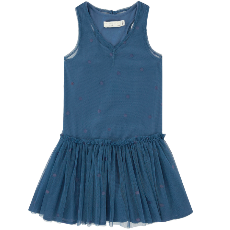 Stella McCartney Girls Blue 'Tulle' Dress Girls Dresses Stella McCartney Kids [Petit_New_York]