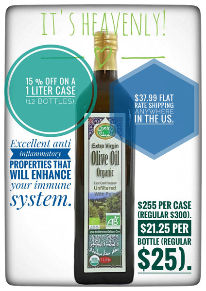 Organic Unfiltered extra Virgin Olive Oil