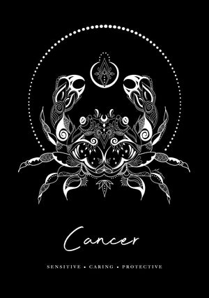 Zodiac Foiled Art - Cancer