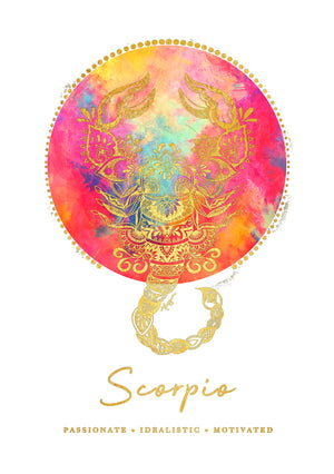 Zodiac Foiled Art - Scorpio