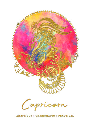 Zodiac Foiled Art - Capricorn
