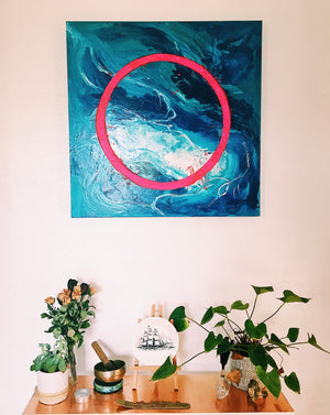 """OCEAN HOOPS THEORY"" Original Canvas"