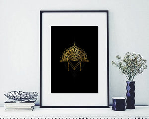 """Amalgamation"" Gold Foil on Black"