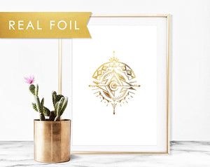 """Possibility"" Gold Foil on White"